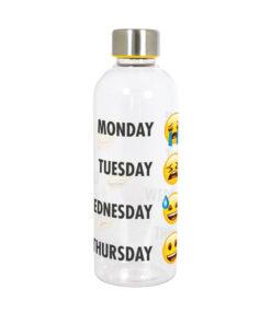 Emoji tritan drikkeflaske med skruelåg