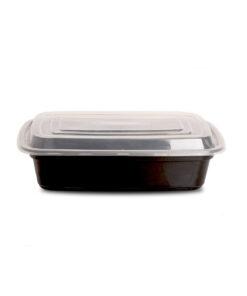 Genanvendelige aflange madbokse med låg