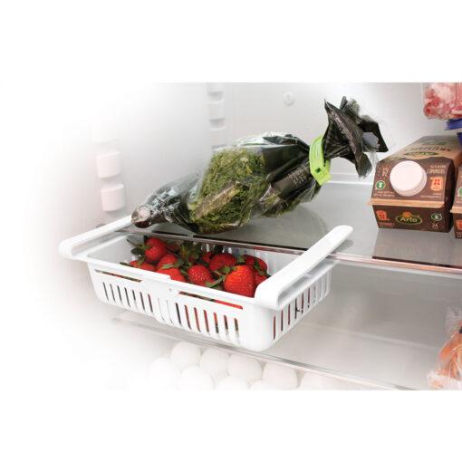 Justerbar køleskabsskuffe